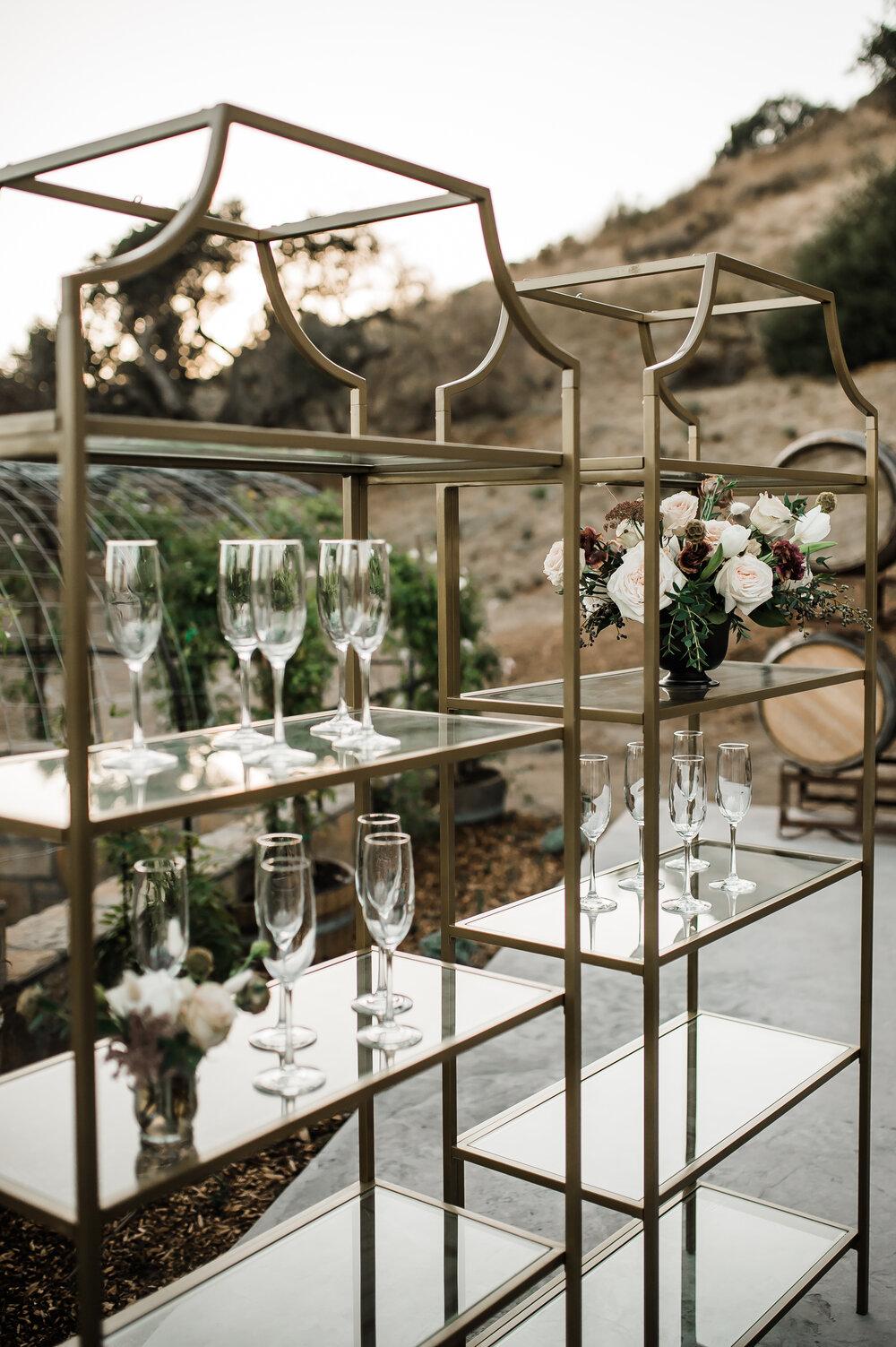 www.santabarbarawedding.com | The Tavern at Zaca Creek | Events by Fran | Michelle Ramirez Photography | Tangled Lotus | Amigo Party Rentals | The Bar Set Up
