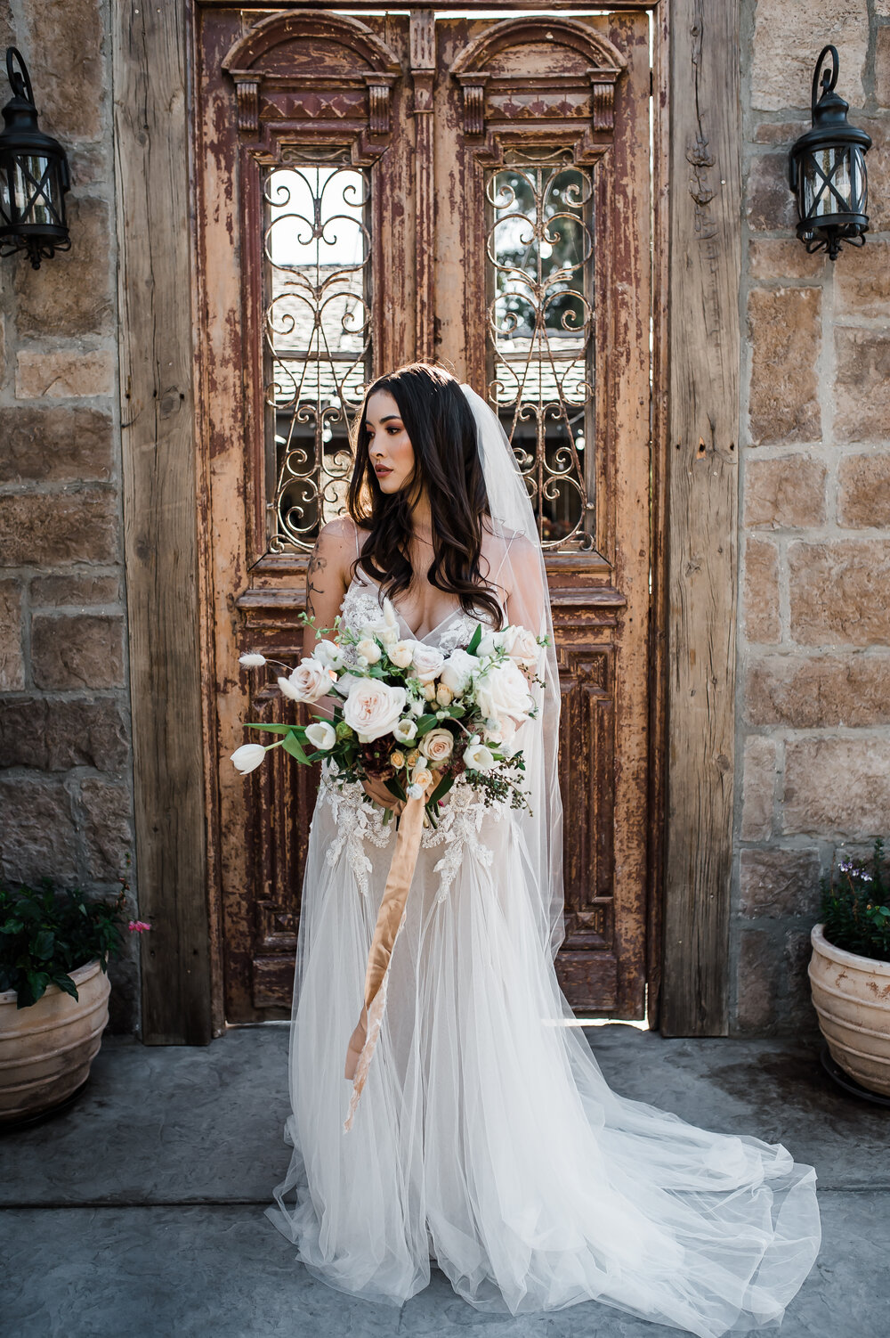 www.santabarbarawedding.com | The Tavern at Zaca Creek | Events by Fran | Michelle Ramirez Photography | Tangled Lotus | Ever After Bridal | BHLDN | Jackie Romero | Bride and Bouquet