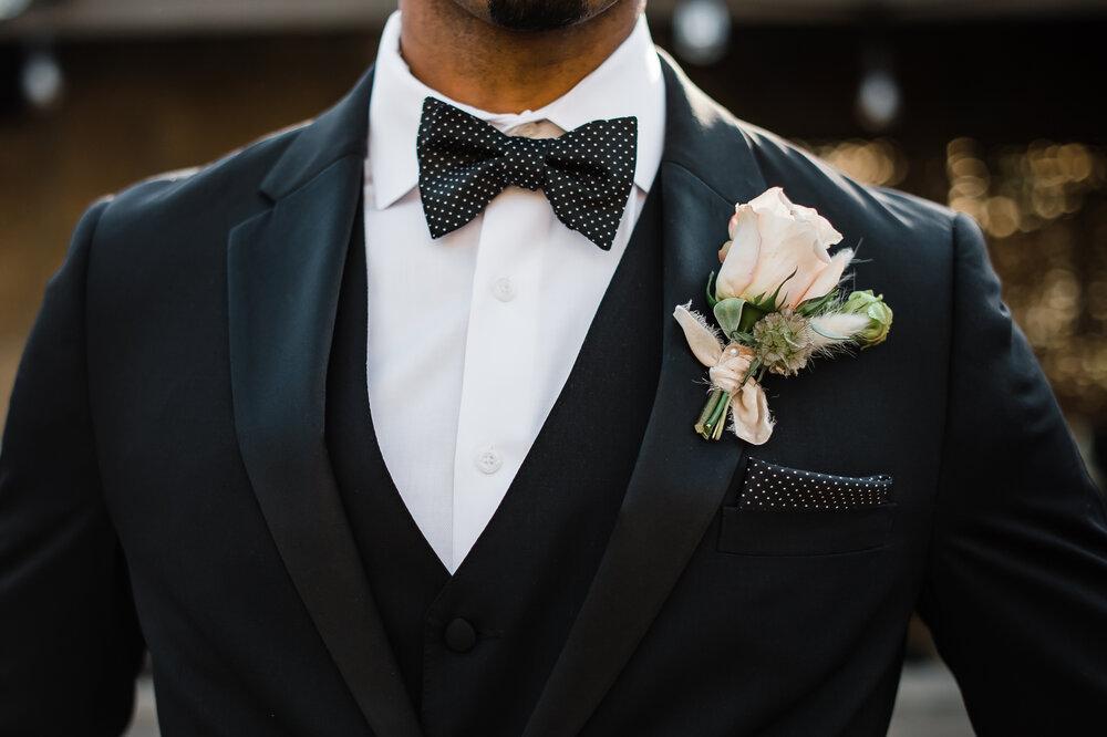 www.santabarbarawedding.com | The Tavern at Zaca Creek | Events by Fran | Michelle Ramirez Photography | Tangled Lotus | Friar Tux | Groom Close-Up