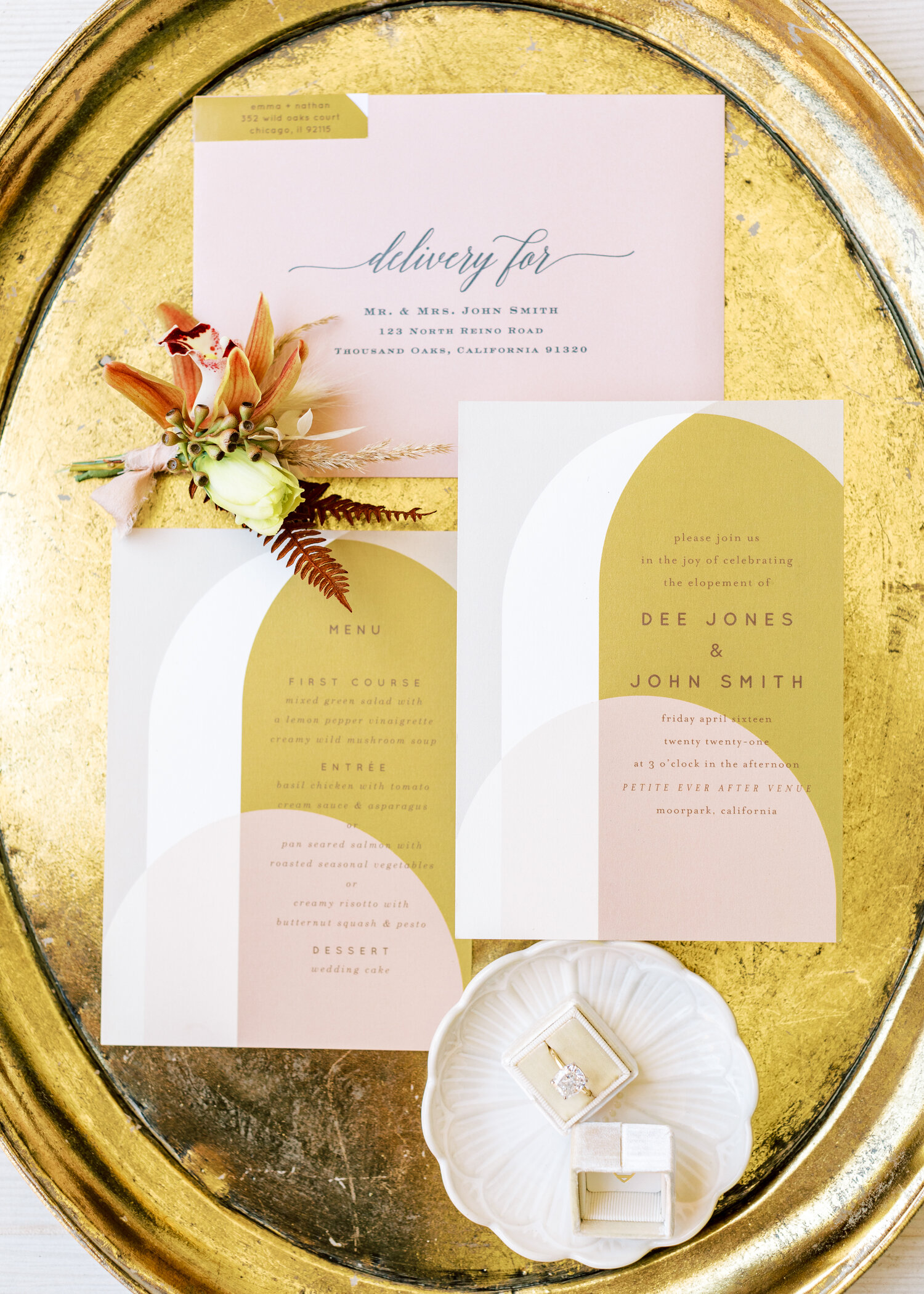 www.santabarbarawedding.com   Events by Fran   Ever After Petite Venue   Kendall Ann Photo   Tangled Lotus   Wedding Invites and Rings