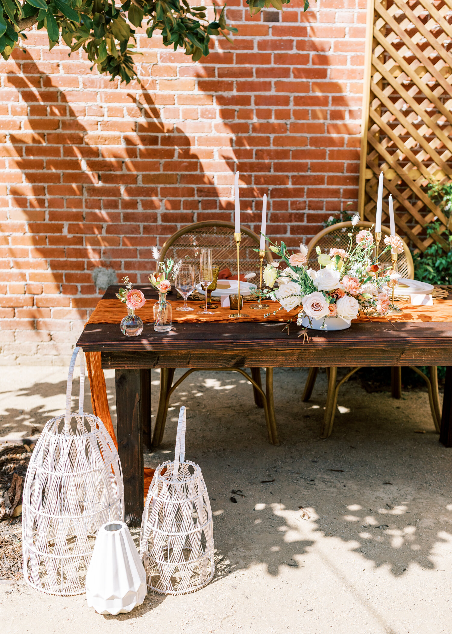 www.santabarbarawedding.com   Events by Fran   Ever After Petite Venue   Kendall Ann Photo   Tangled Lotus   Amigo Party Rentals   Love and Fromage   Styled Reception Table
