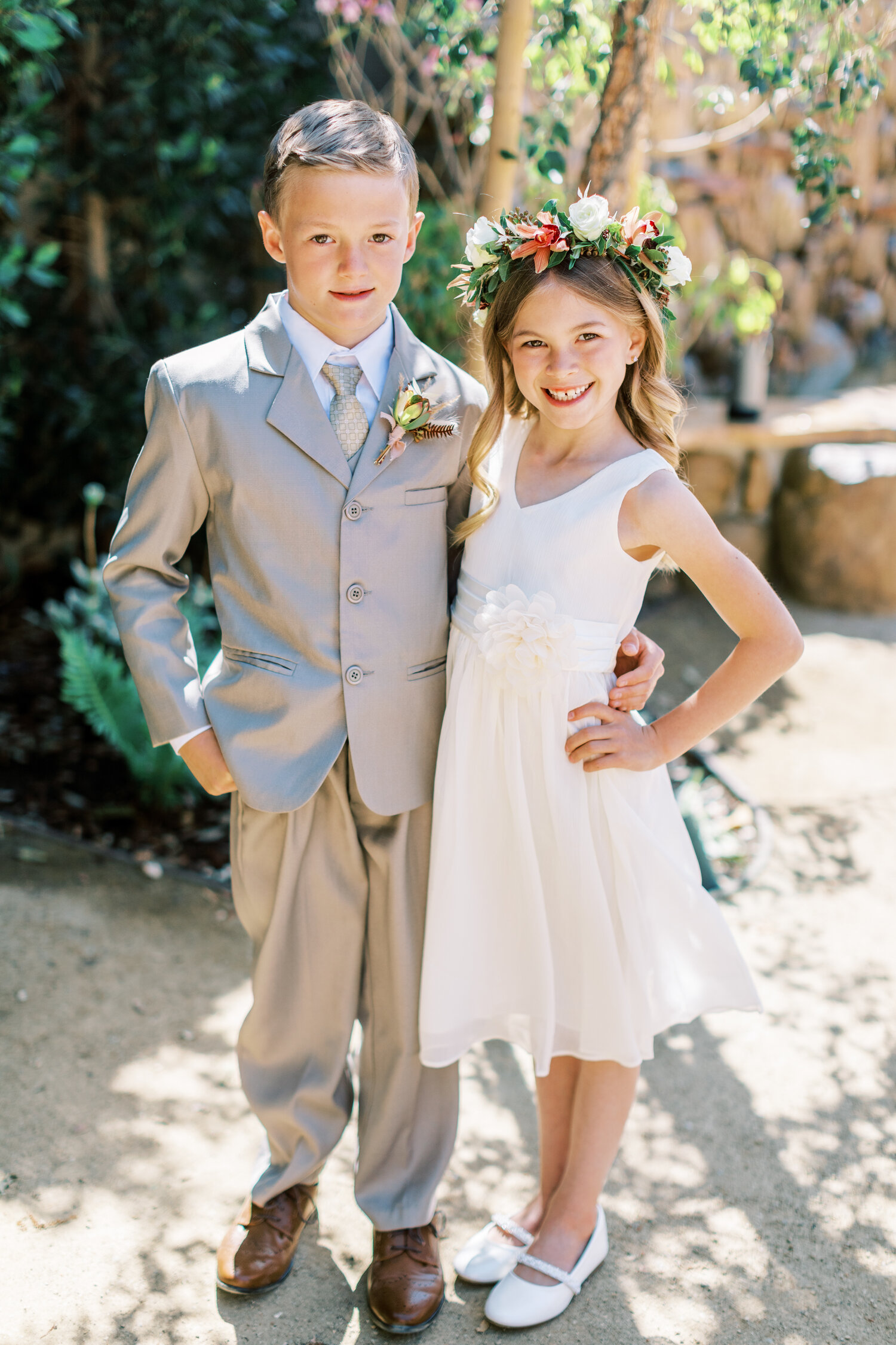 www.santabarbarawedding.com   Events by Fran   Ever After Petite Venue   Kendall Ann Photo   Tangled Lotus   Flower Girl and Ring Bearer