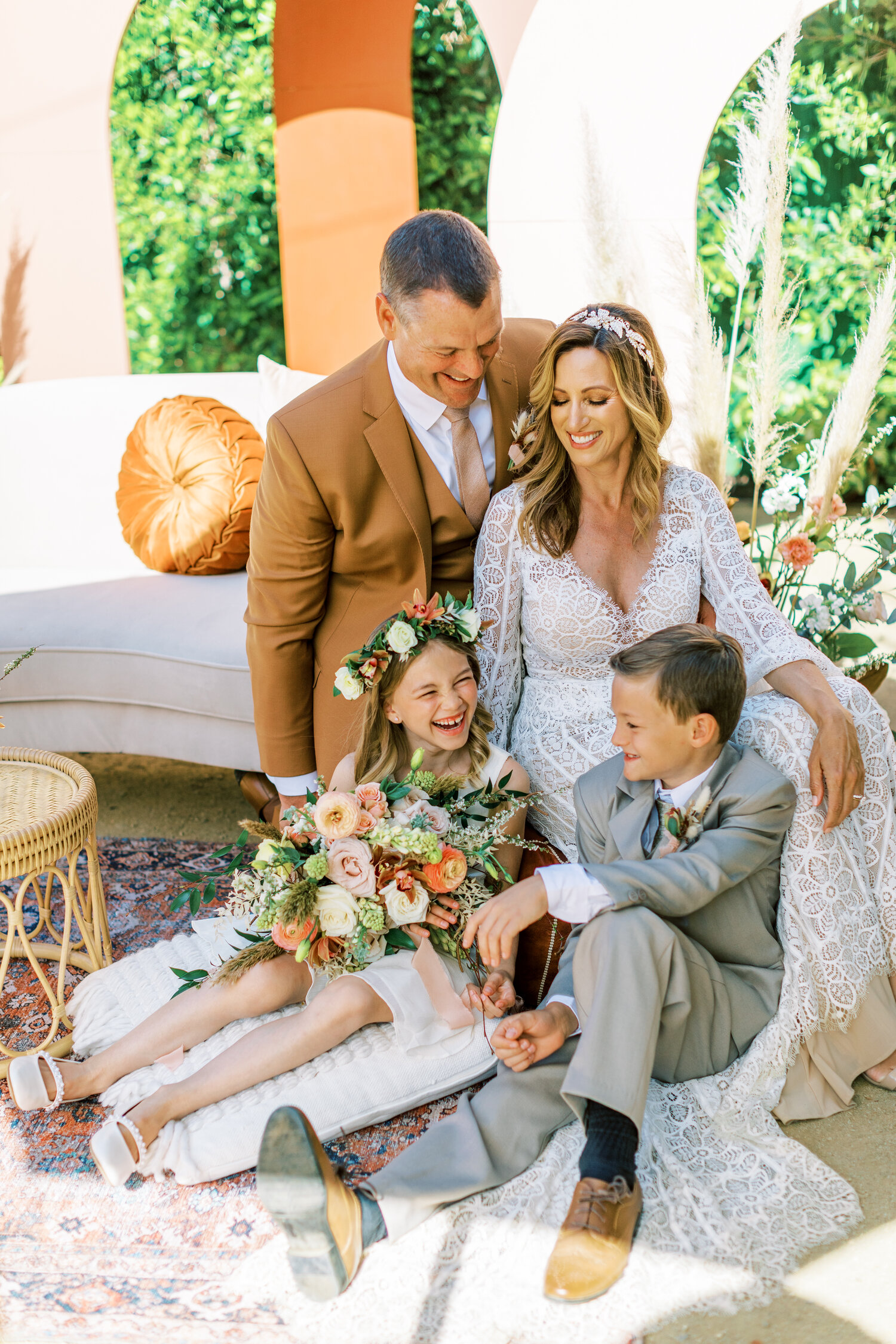 www.santabarbarawedding.com   Events by Fran   Ever After Petite Venue   Kendall Ann Photo   Tangled Lotus   My Lovely Events   Ever After Bridal   Friar Tux   Bride and Groom with Children