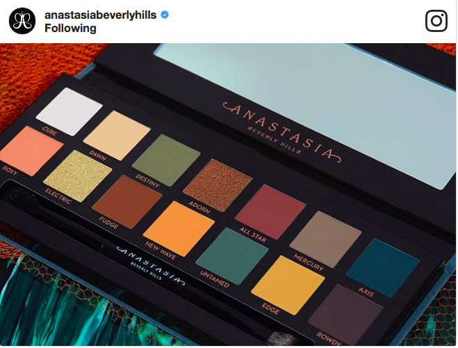 The Anastasia Beverly Hills Subculture Palette- first looks