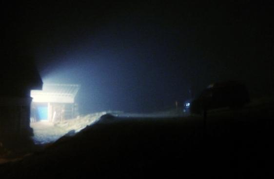 A murky cold night at the Ptarmigan building