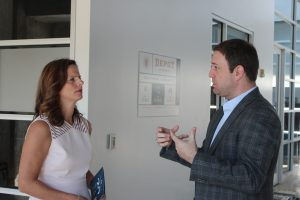 Canadian Consul General Louise Blais tours Innovation Depot with Devon Laney, President and CEO of Innovation Depot.