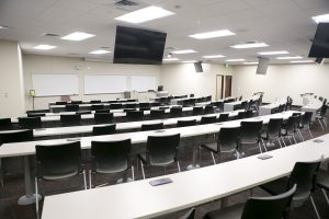 Interactive Classroom in Building One of Samford University's College of Health Sciences Facility