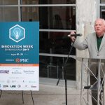 Ray Watts, President of UAB, speaking at the Innovation Week Ribbon Cutting.