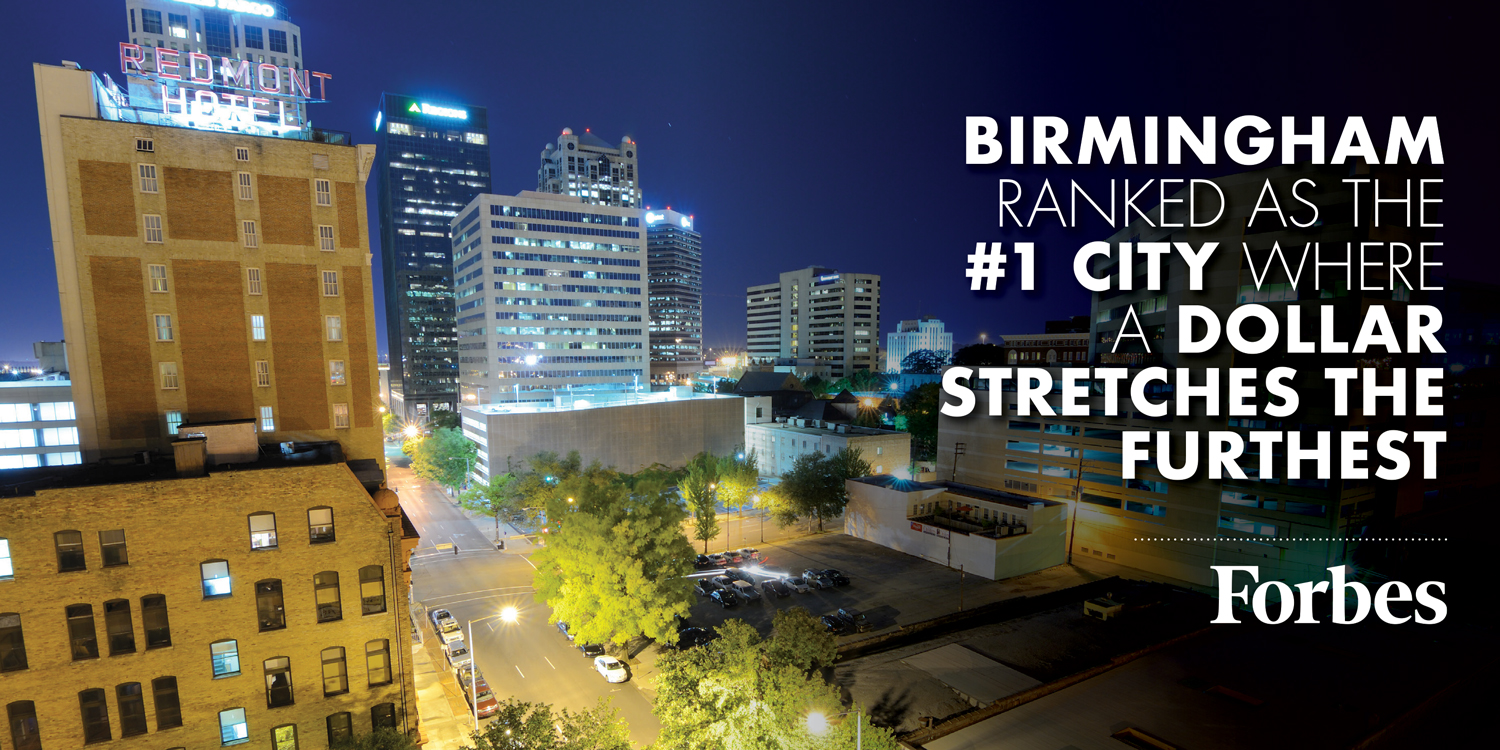 Birmingham ranked as #1 city where a dollar stretches