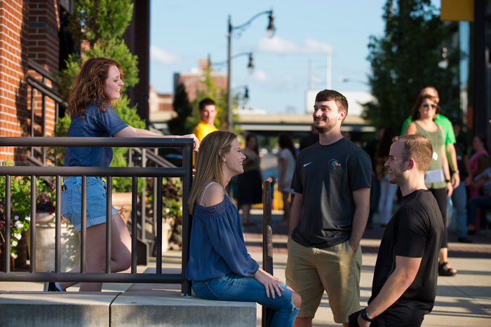 Students in downtown Birmingham