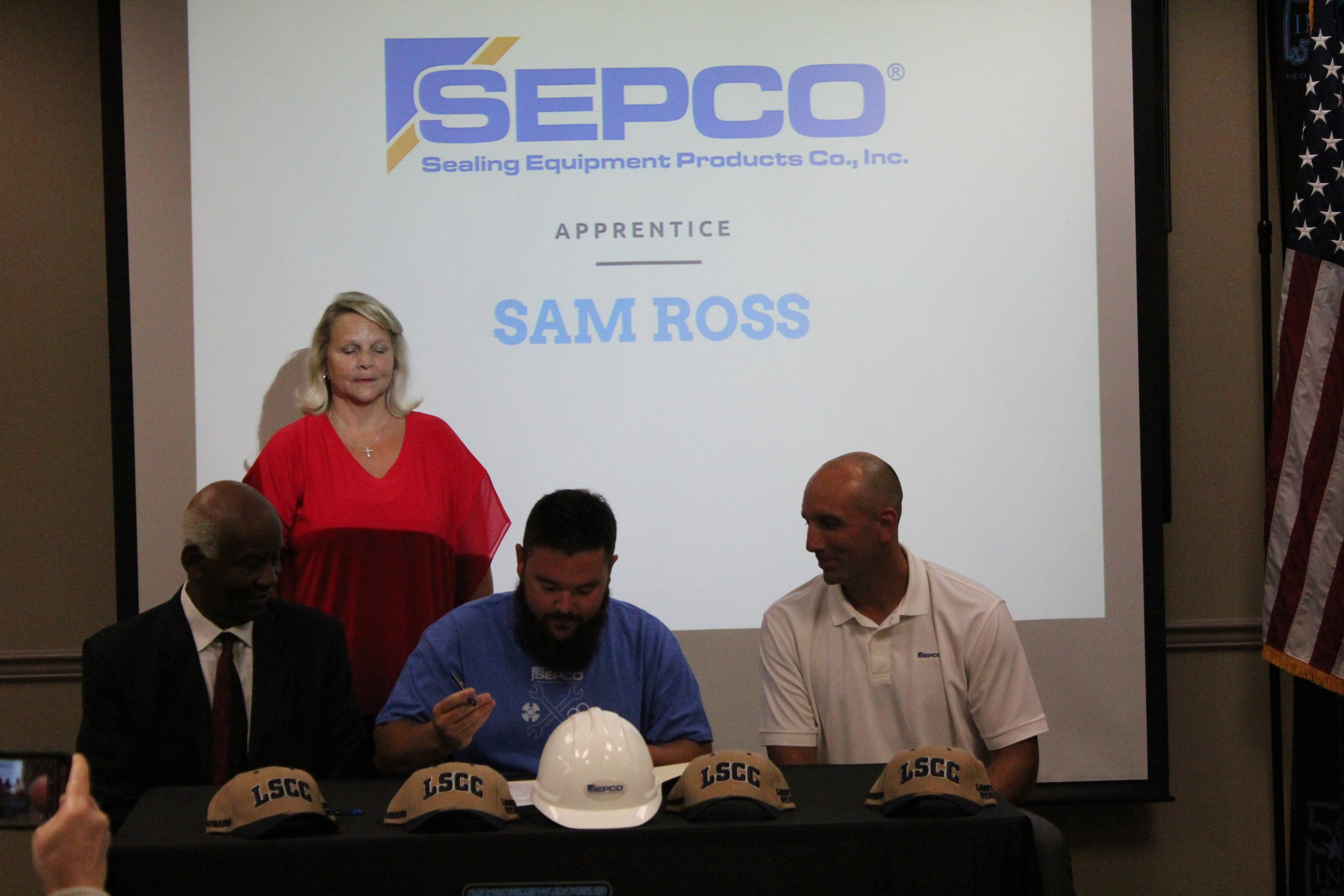 Sam Ross is one of the eight apprentices who will work full-time while attending evening classes at Lawson State Community College.