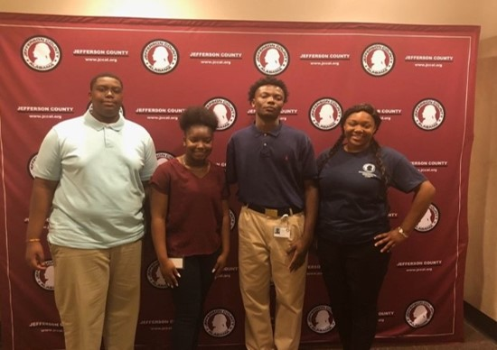 Left to right, Shemar Spivey, Tamara Slaughter, Ramon Murrell and MiKayla Stinson made up the first class of interns for the Jefferson County Commission's Water Reclamation High School Internship Program.