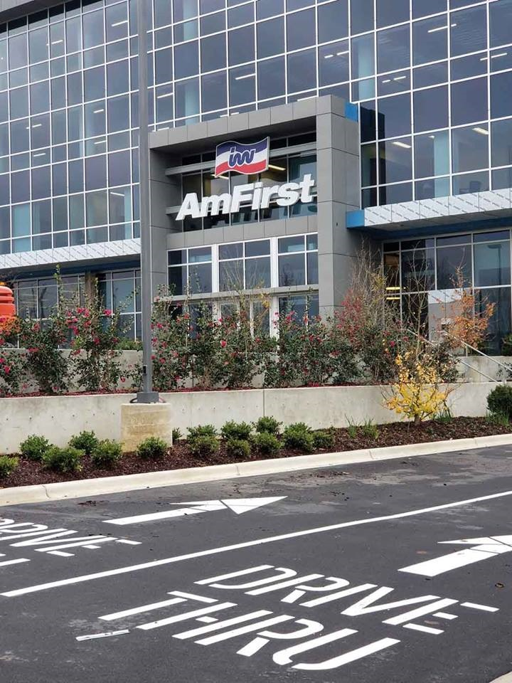 America's First Federal Credit Union's expanded headquarters includes a retail branch on the first floor of the new building.