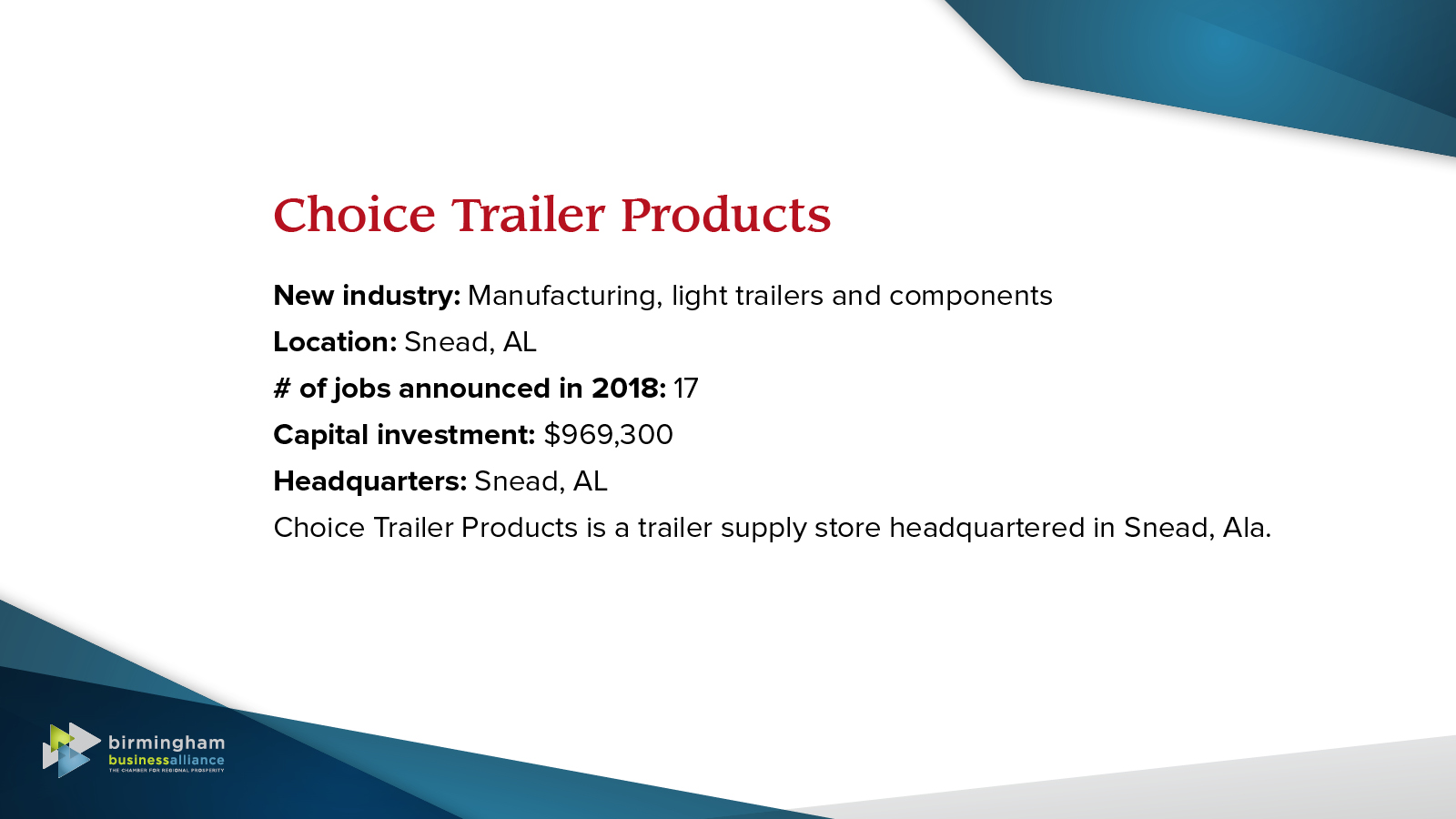 14) Choice Trailer Products