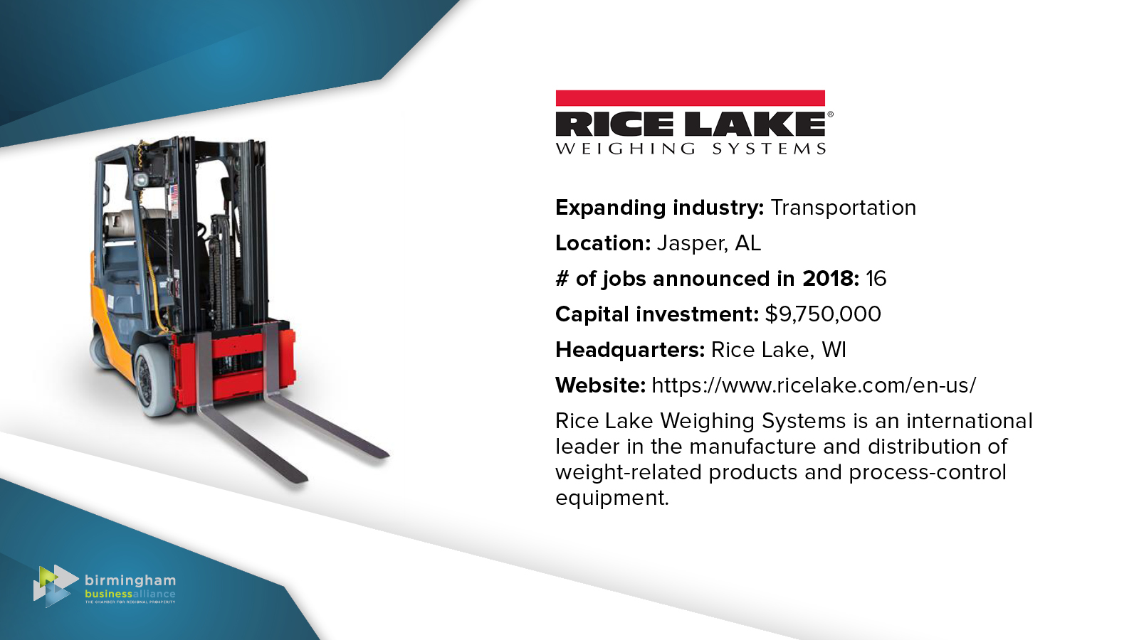 46) Rice Lake Weighing Systems