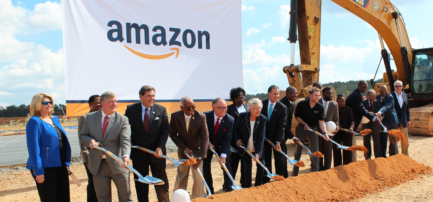 The $325 million, 1,500-job Amazon fulfillment center landed Alabama a Golden Shovel Award from publication Area Development and a Community Impact Award from Trade & Industry Development.