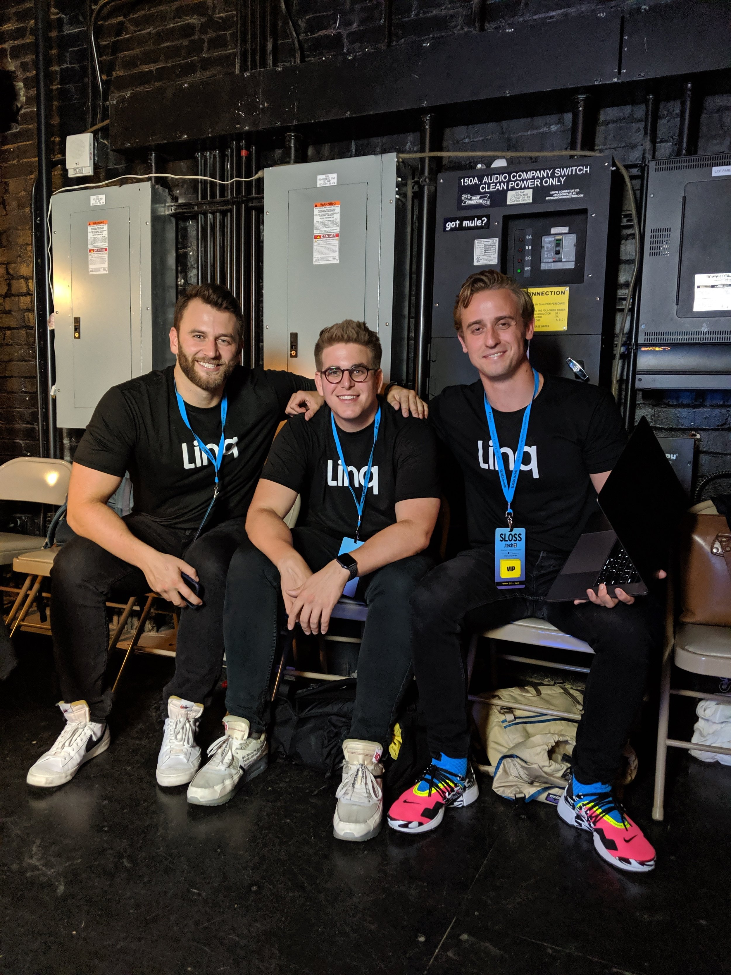 Jared Mattsson, Patrick Sullivan and Elliott Potter cofounded Linq and spoke at Birmingham's Sloss Tech about their product this summer.