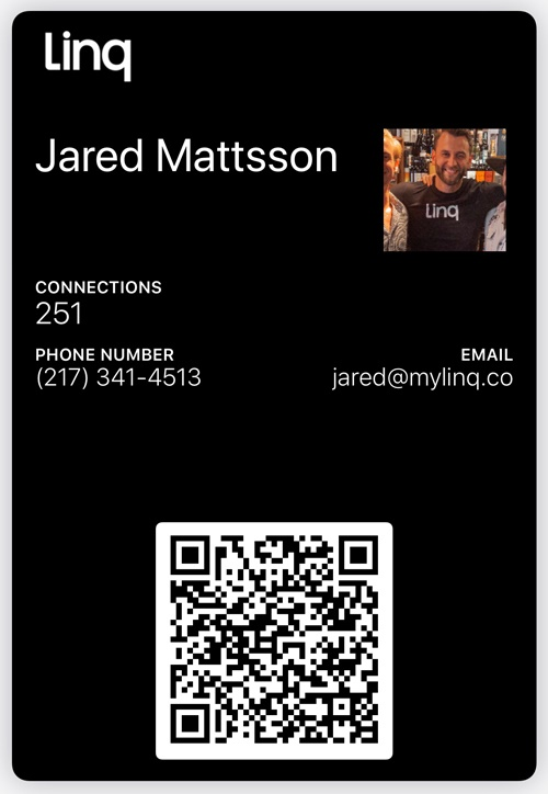 Want to try out Linq? To get started, hold your smartphone camera over Mattsson's QR code.