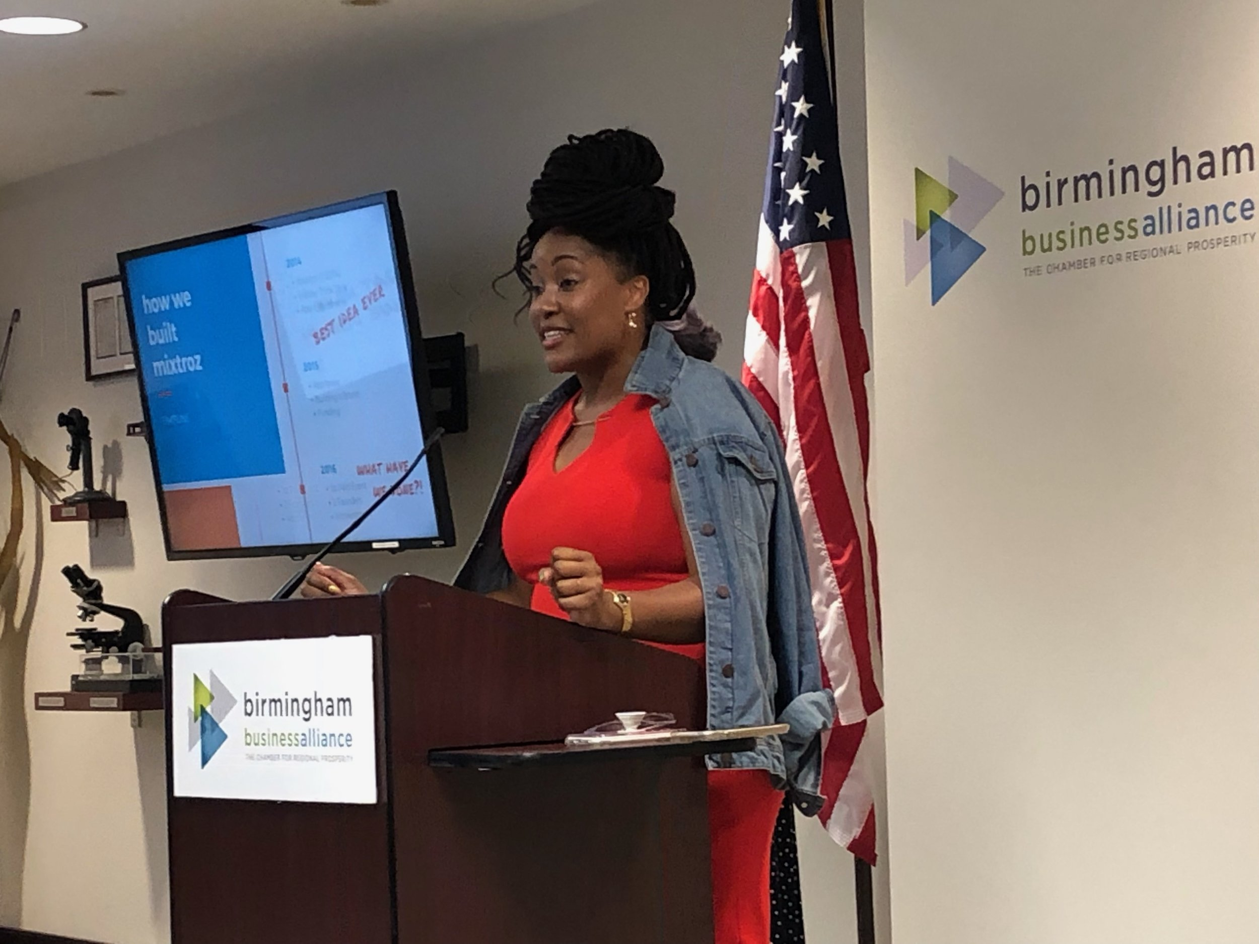 Mixtroz's Kerry Schrader and Ashlee Ammons (pictured above) spoke to the Birmingham Business Alliance's Birmingham Regional Enterprise Council (BREC) about the highs and lows of becoming an entrepreneur.