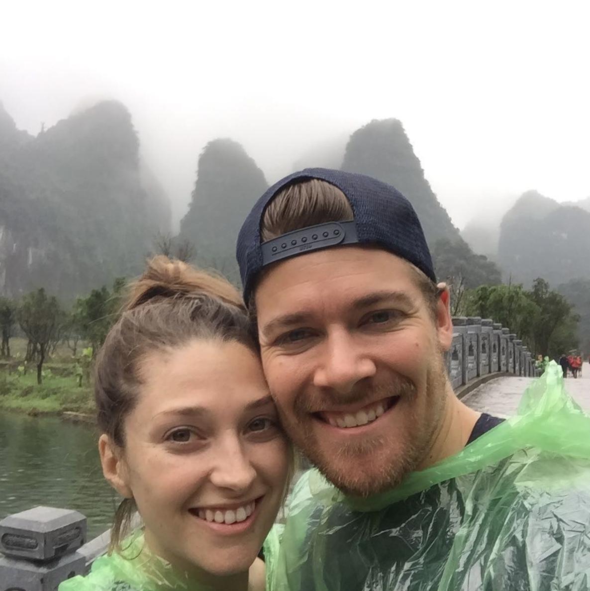 Nolan and Joanna Waterfall in Vietnam