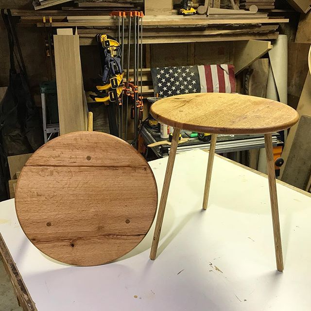 Pair of small lounge tables in oak. #woodworking #furnituredesign #athensny #leedsny #catskills #hudsonvalley