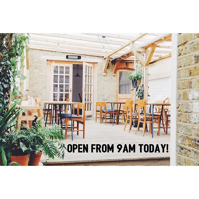 We're open today from 9am. Come join us in our cosy covered garden!  #veganlondon #londonrestaurants #vegetarianlondon #instafood #londonvegan #londonvegetarian #e17 #restaurantslondon #walthamforest #breakfastlondon #londonbreakfast #brunchlondon #londonbrunch #eastlondoneats #londonfood #londonfoodguide #eatlondon #topcitybites #eaterlondon #londonfoodscene #eatinglondon #wheretoeatinlondon #walthamstow #walthamstowlife #londonfoodie #London #londonfoodguide #eatinglondon #timeoutlondon