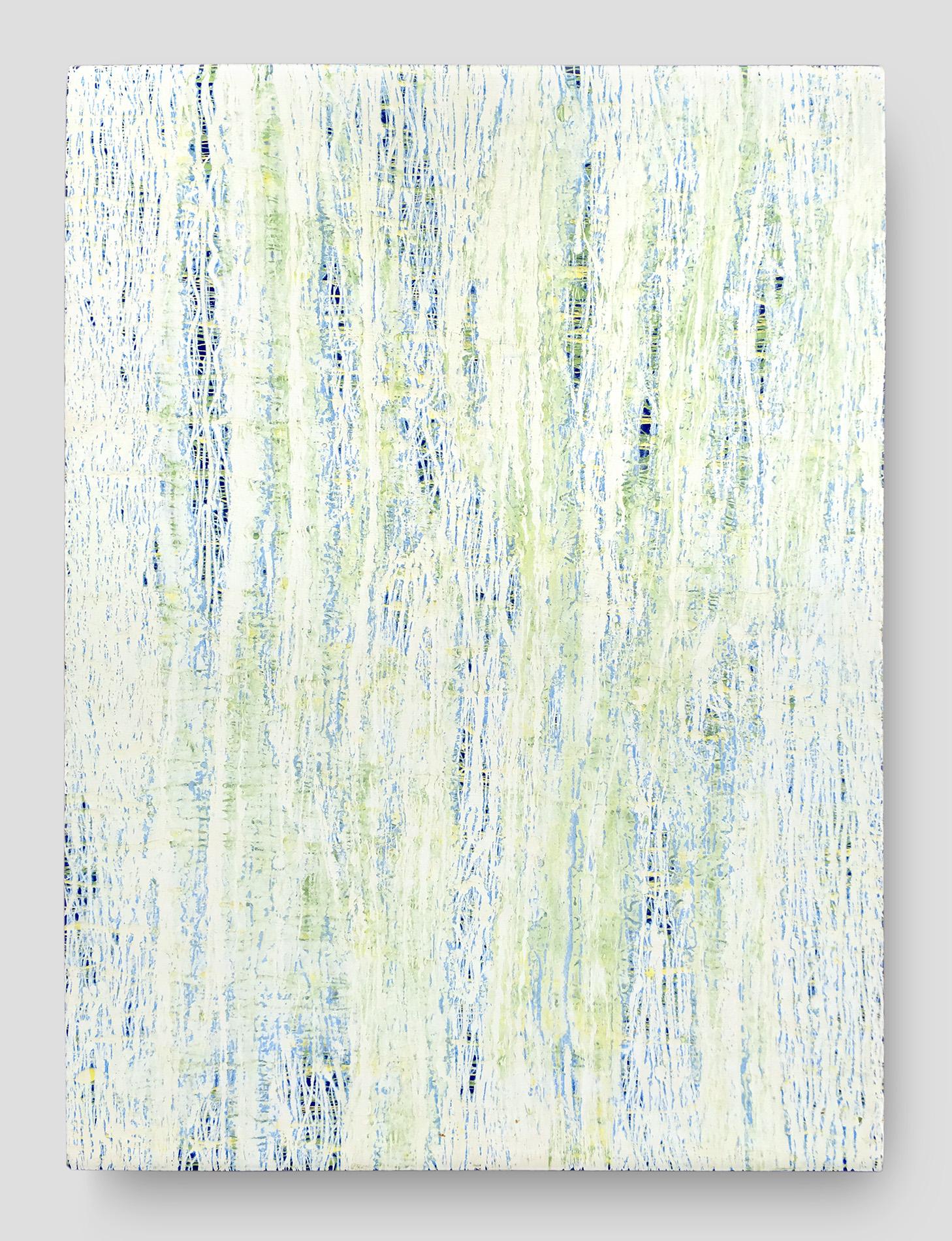"Fluid Improvisation I   oil on canvas  36"" x 48""  Canvas edge is painted  (1.5"" deep)   $500"