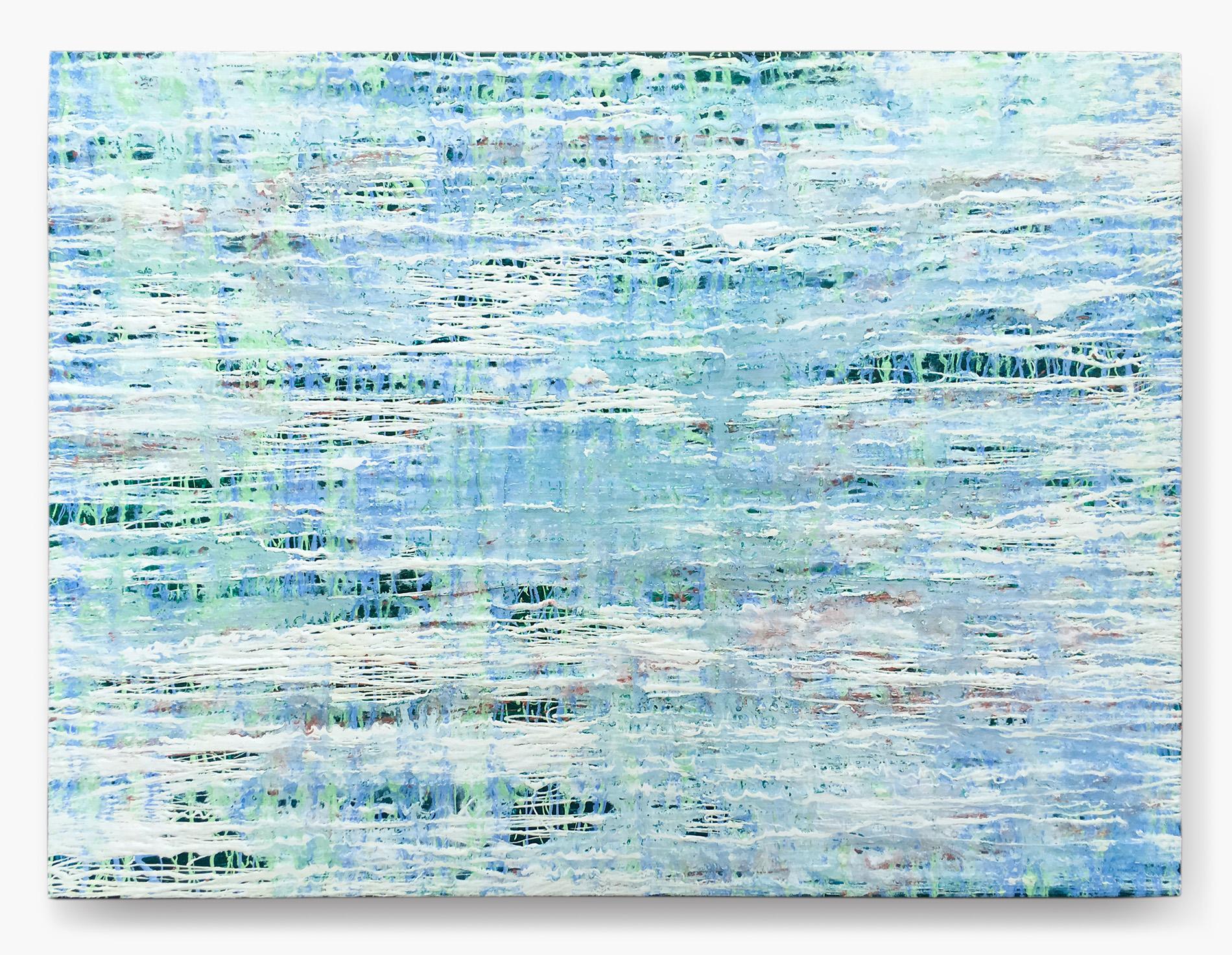 """Fluid Improvisation VI   oil on canvas  48"""" x 36""""  Canvas edge is painted  (1.5"""" deep)   $500"""