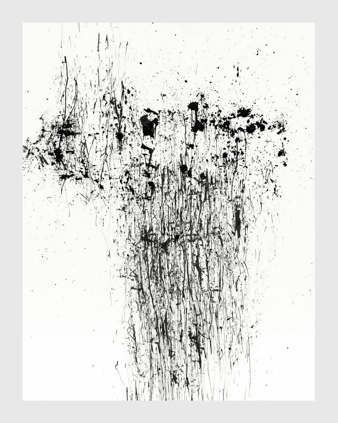 """Untitled   ink on rag paper  22"""" x 30""""   $375"""