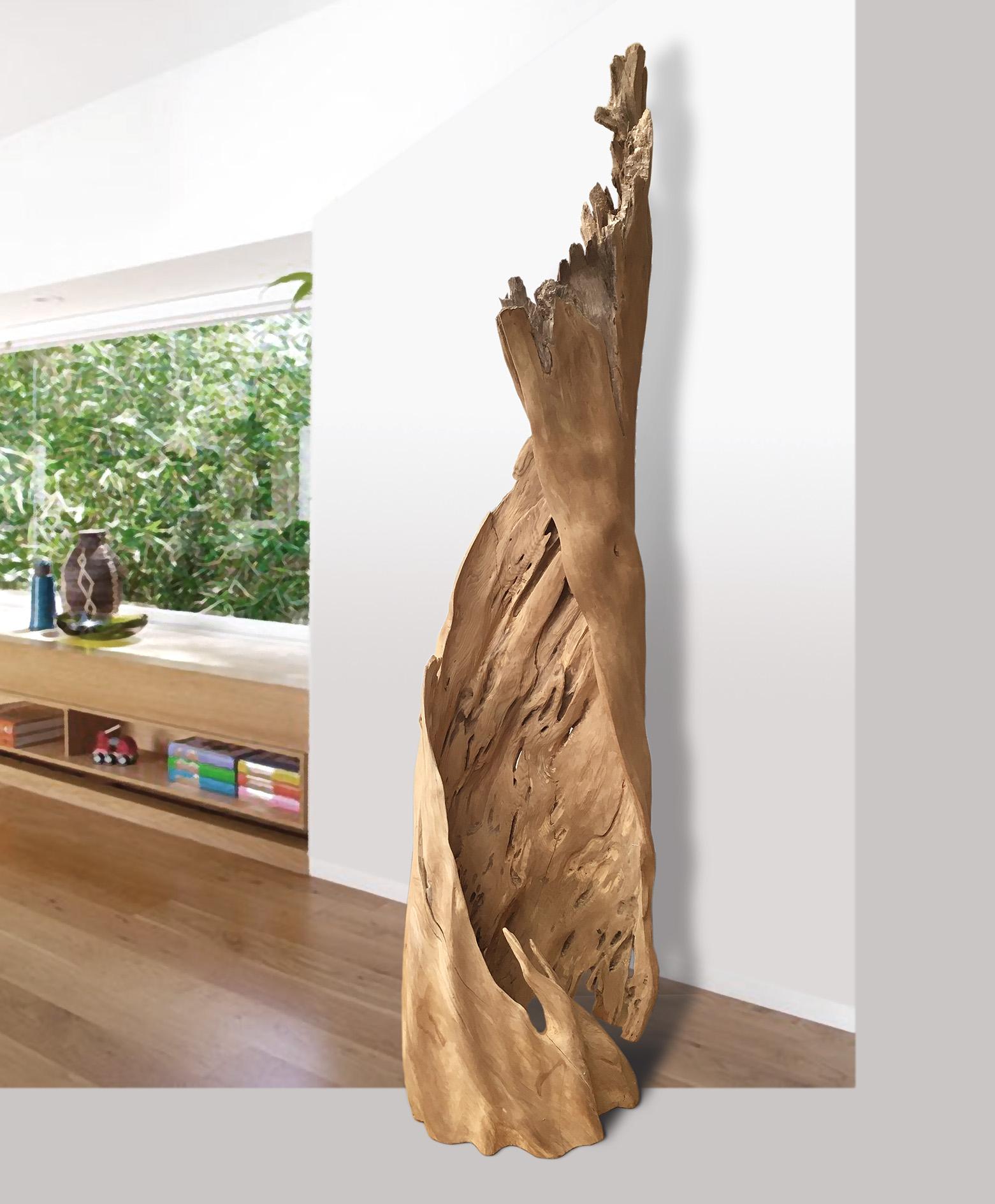 """Ash Tree Sculpture   78""""Tall x 26"""" Dia.  weight: 65lbs.   $2,300"""