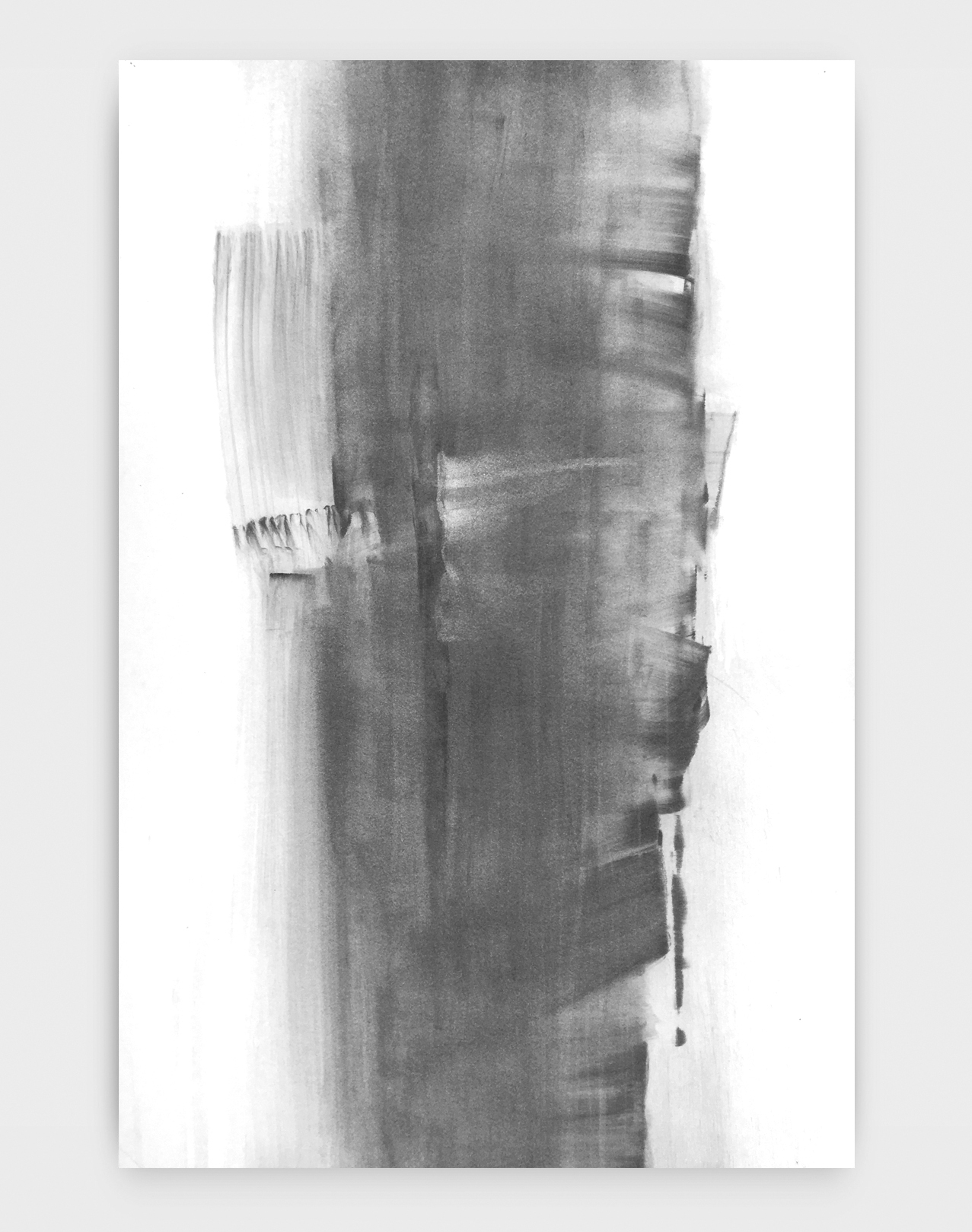 """Untitled VI   Brushed powdered charcoal on paper  24"""" x 36""""   $200"""