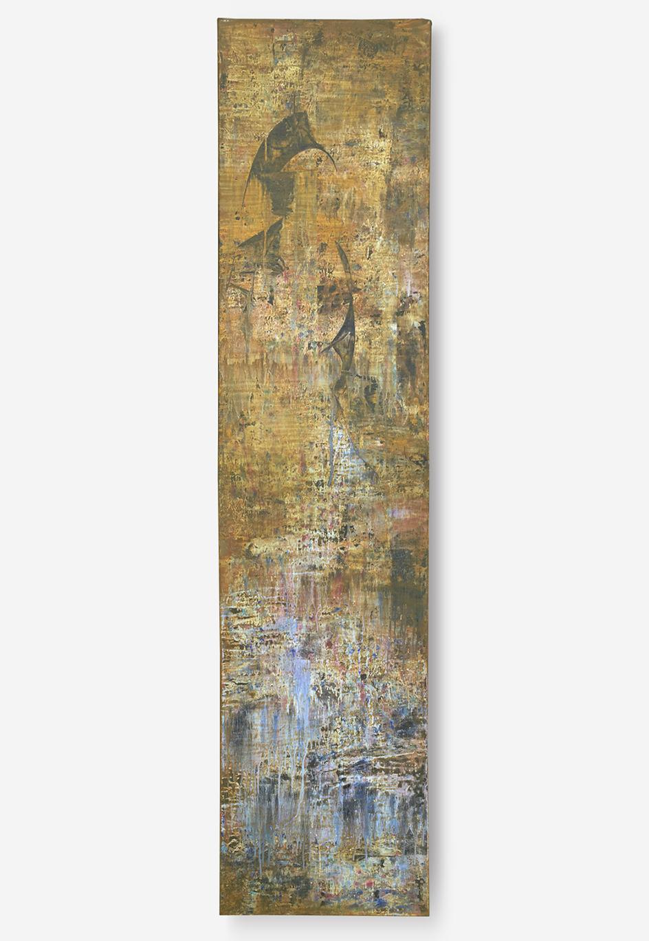 "Mystic Warrior   oil on canvas  18"" x 78""   $400"