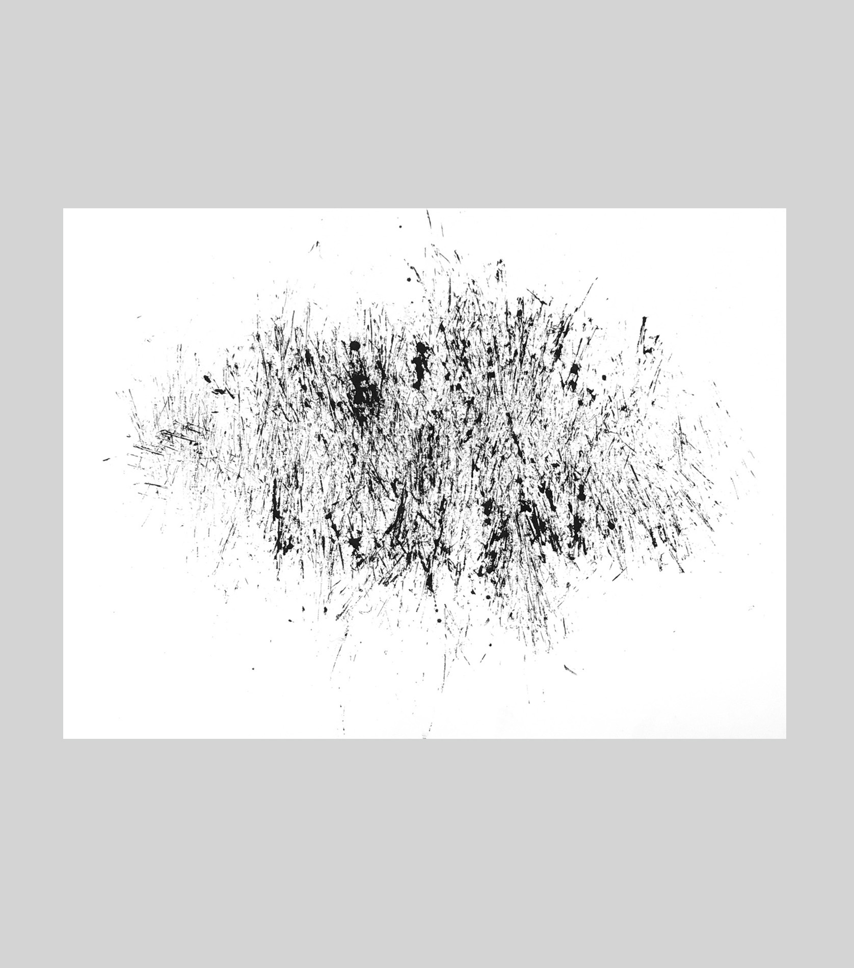 """cherry bark drawing No.2   ink on paper  14"""" x 11""""   $75"""