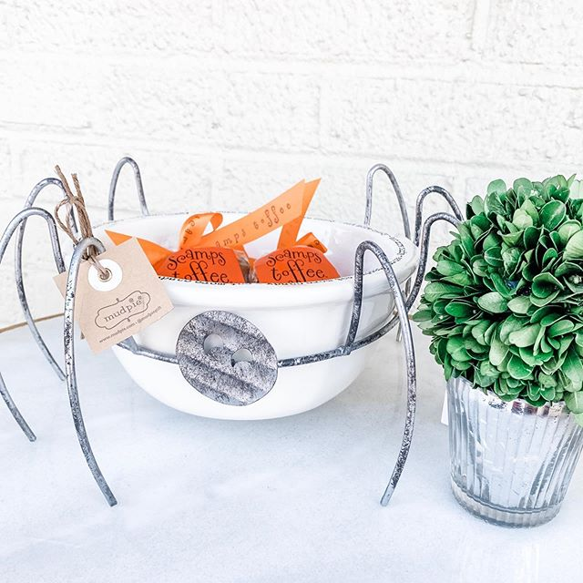 This is the ONLY kind of spider that should be in your house! 🕸🎃🕷Love how this adds an element of fun to a practical candy bowl!