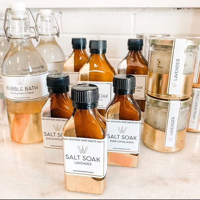 Have you shopped our new luxury line of bath products?! With each @wintonandwaits purchase you are making an IMPACT. 🧡 These products benefit brace survivors of human trafficking and exploitation.