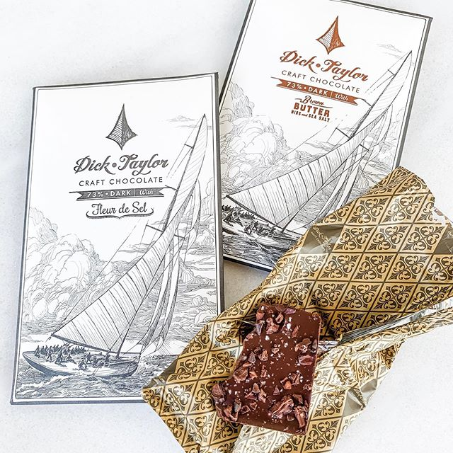New artisan chocolates from Dick Taylor! These are so unique with rich textures and flavors! The company prides itself on their process for making such luxe chocolate! In store now! 🧡
