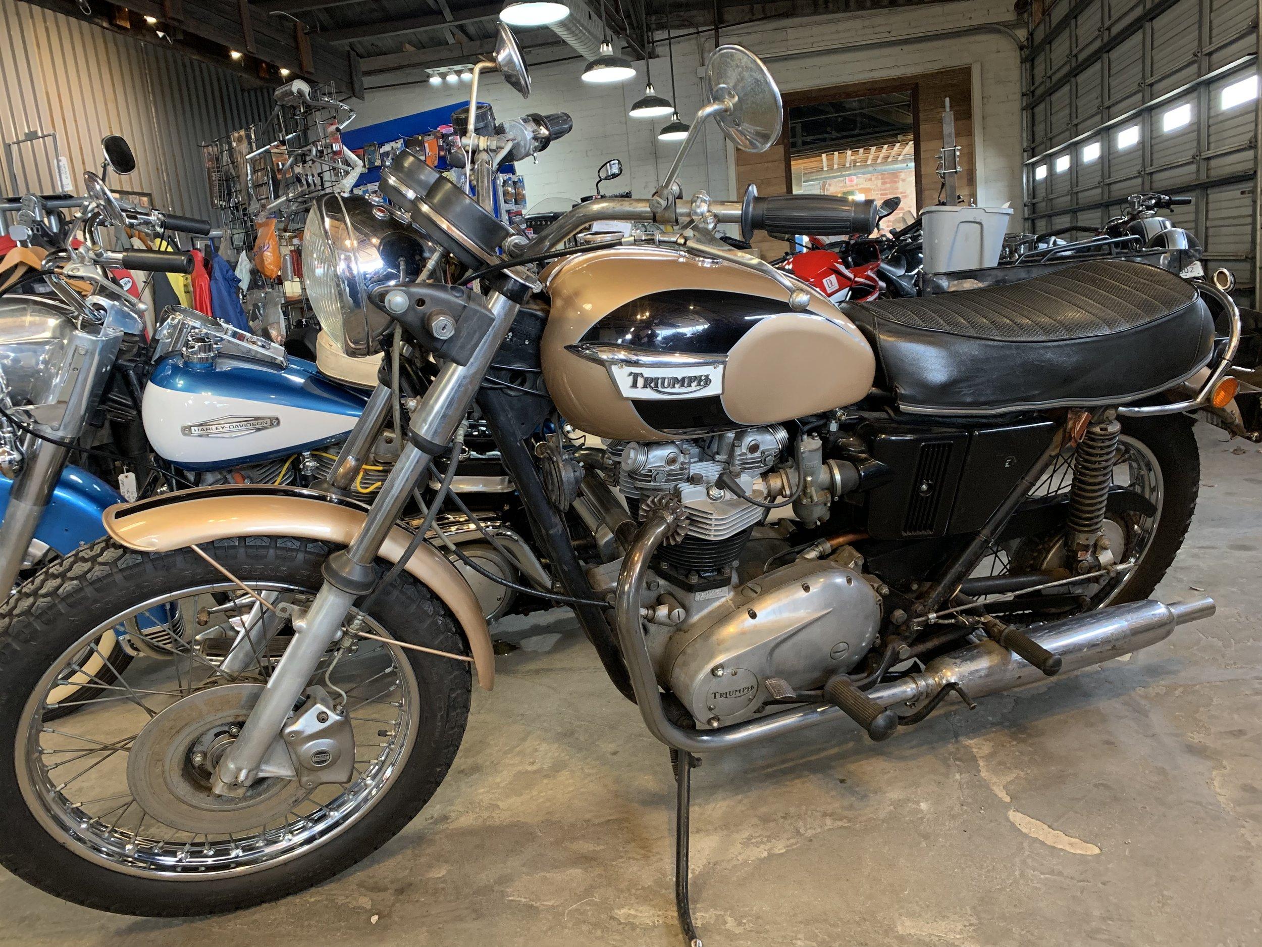 1972 Triumph Bonneville 650, 12933 miles $4,500