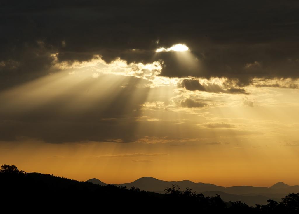 Umbrian sun shower
