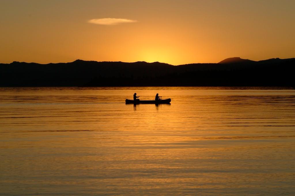 Canoe on Lake Tahoe