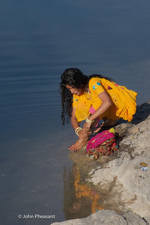 Girl washing