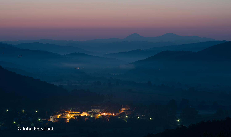 Dawn over Mercatale di Cortona