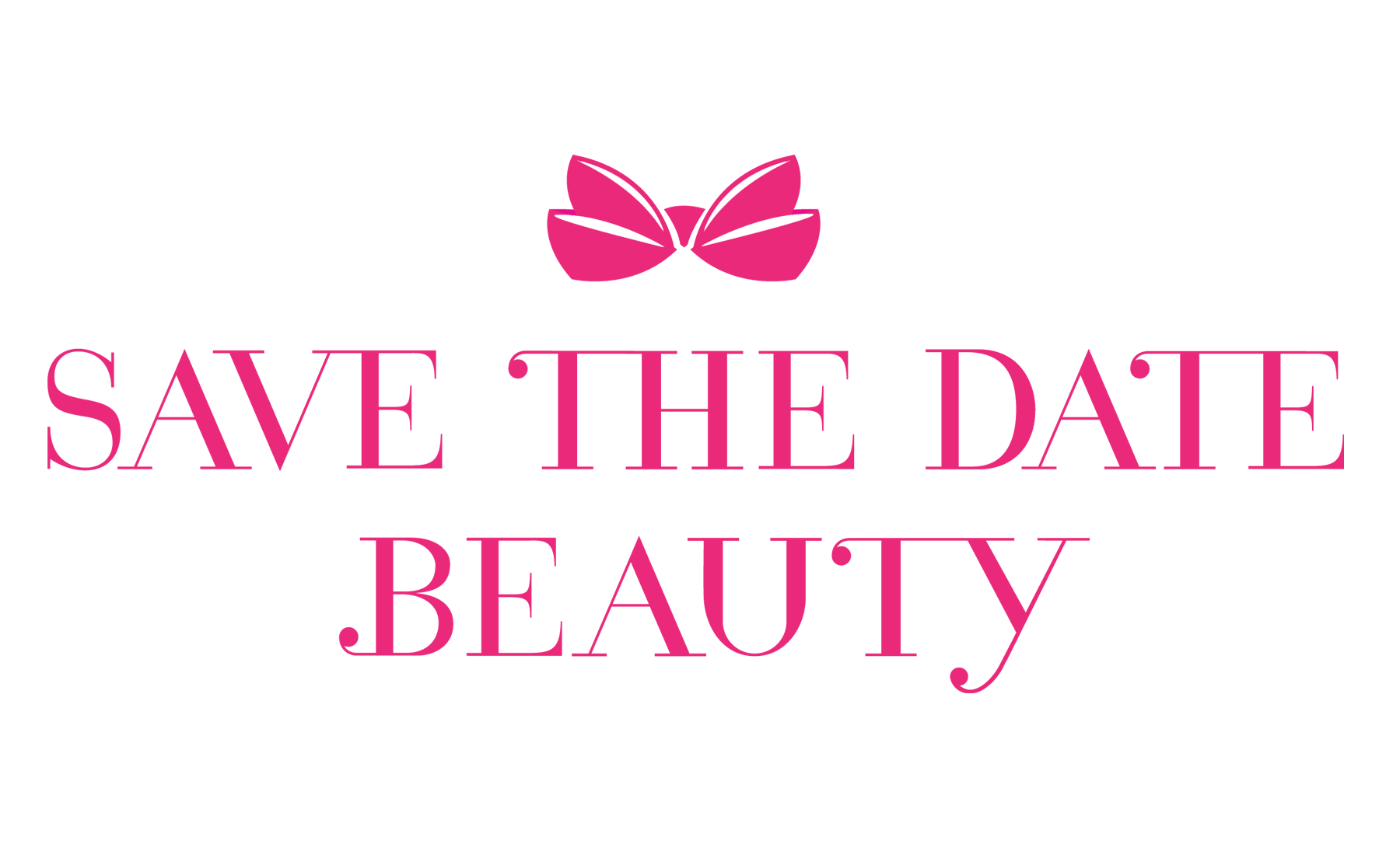 Save the date beauty logo