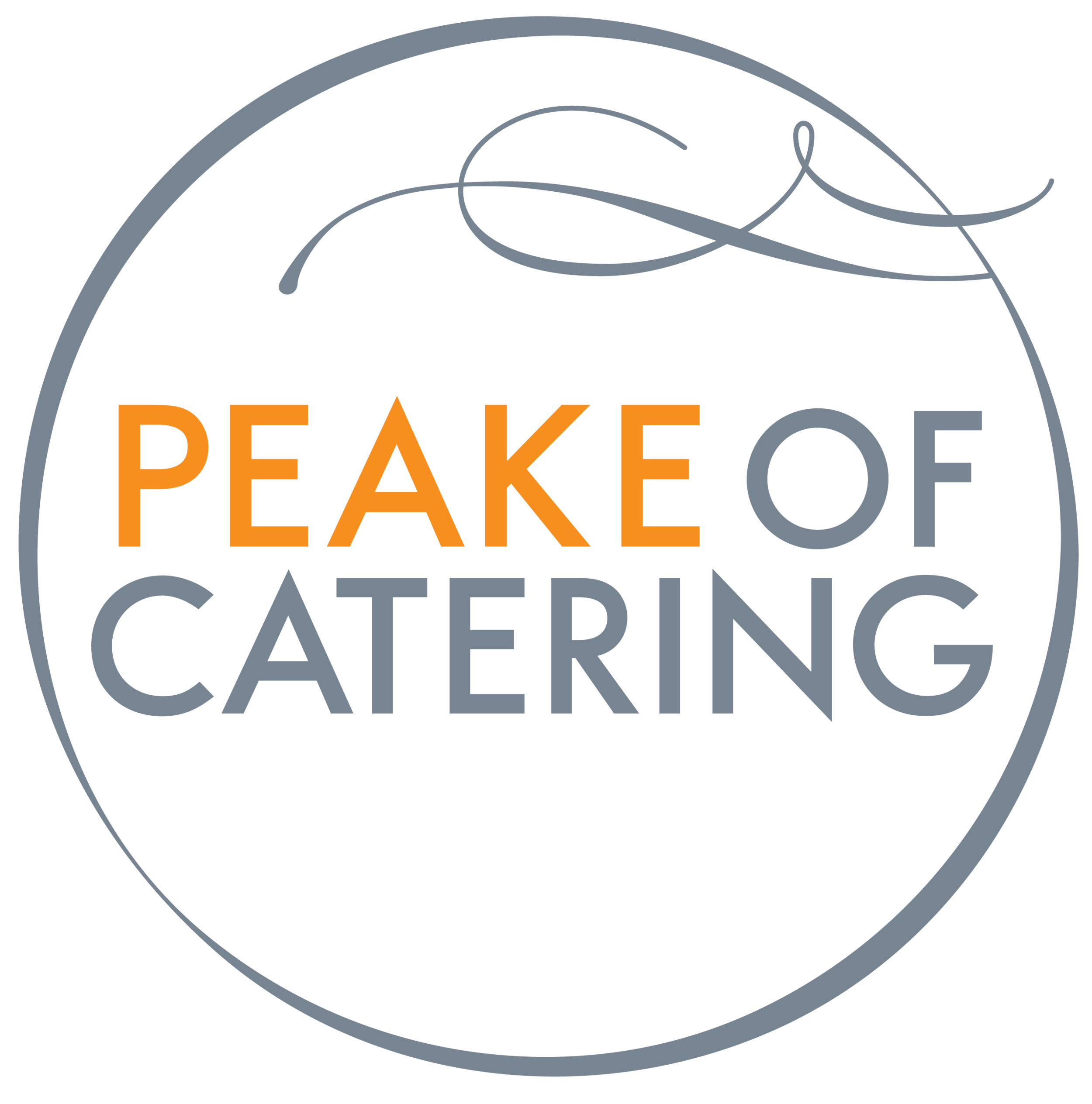 Peake of Catering logo
