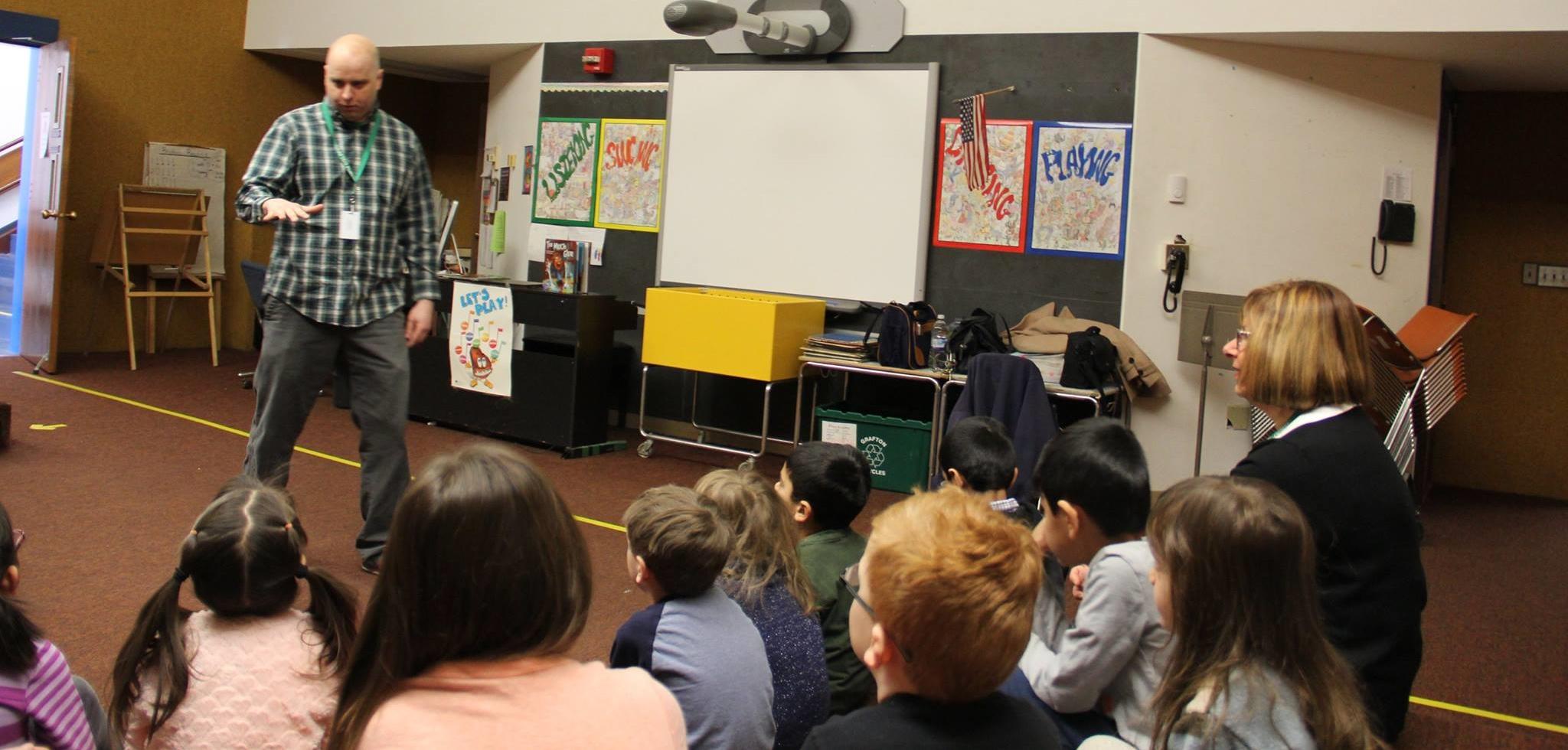 School visit! South Grafton Elementary, South Grafton, MA