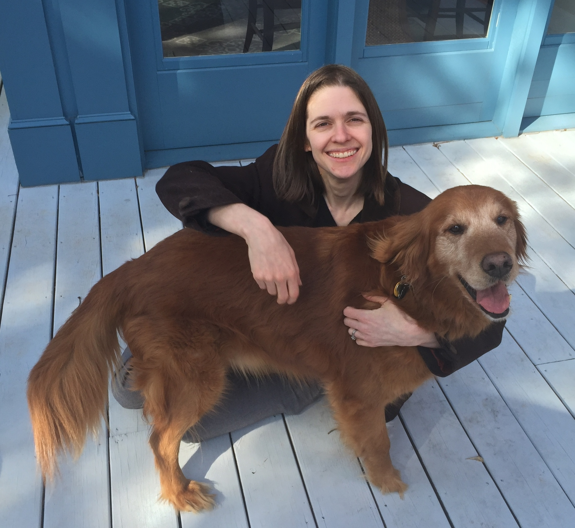 This is Cyd. This is not her dog.