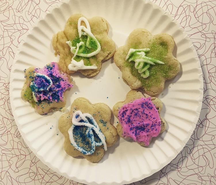 flower cookies!