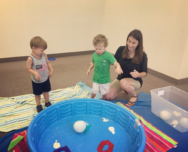 water balloon play!