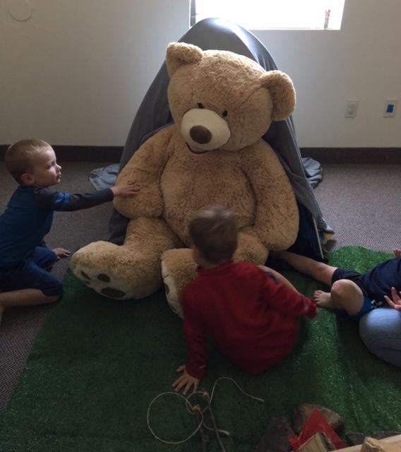 ... a bear on our bear hunt!