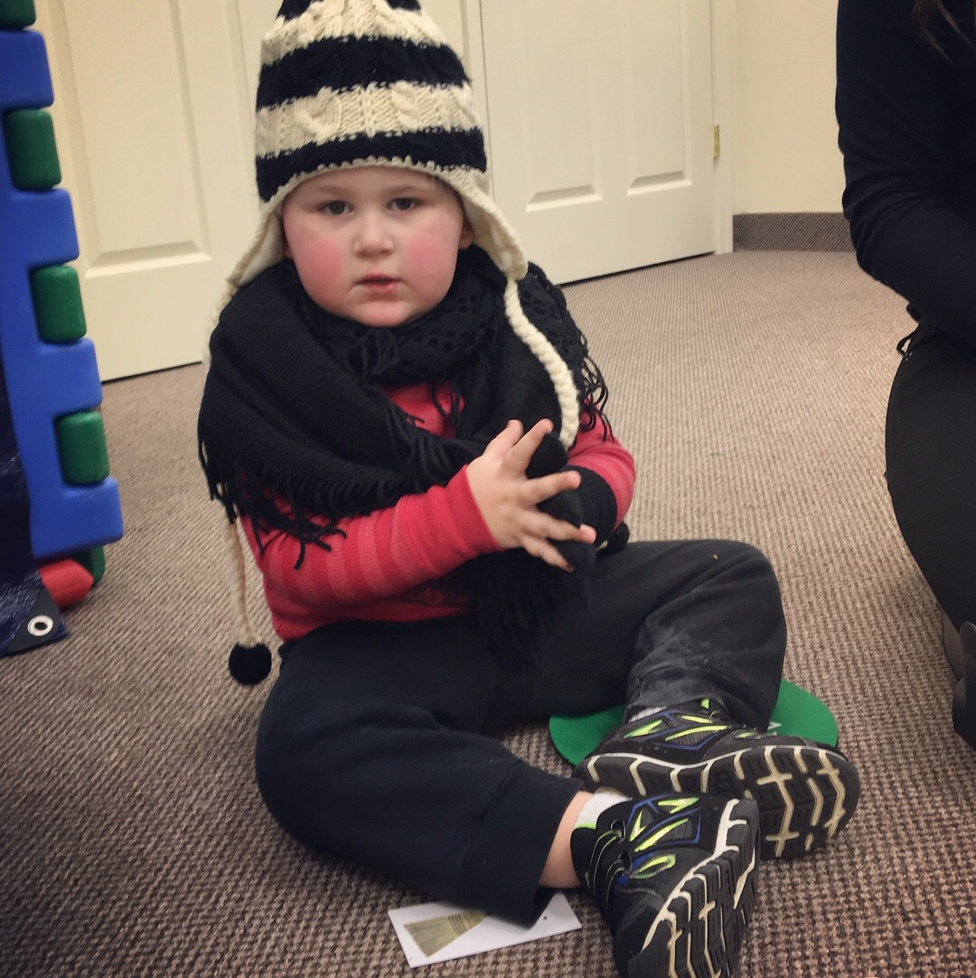 cutest little buddy ready for the snow!