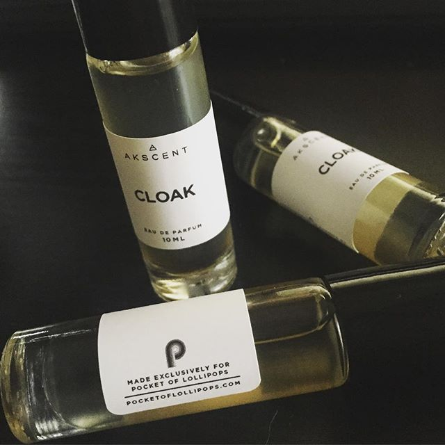 """New Fragrance Release Tomorrow 4/10! """"CLOAK"""" made exclusively for @pocketoflollipops new album release """"Be my non-friend friend"""". Come check them out @grampswynwood tomorrow night from 7 to 9 and experience Cloak for yourself and their music! Its a balsamic oriental fragrance with Notes: patchouli, amber, vanilla, castoreum, frankincense, myrrh, rose petals, orange blossom, oud and musk. See you guys tomorrow! Support local artist and musicians!! #rockbandperfume #pocketoflollipops #cloakperfume #miamiperfume #miamimade #miamiband #akscentperfumes"""